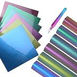 Ehdis 6 x Papier transfert pour textile, 12 x 12 pouces, flex thermocollant pour...