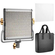 Neewer Kit de Luz de Video LED Staffa U Con Bi-color Regolabile para estudio, Video de YouTube, 480 LED Lampadine, 3200-5600K, CRI 96 + (Enchufe UE)