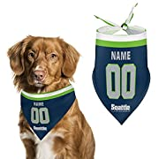 Support your team with your pet!!! 【Customize Now】: Custom pet bandada is easy! Add a note to your order Any Name and Any Number, And we'll handle the rest. The processing time is about 2-4 days to prepare your order. 【Product performance】 fabric sof...