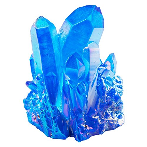 Rockcloud Healing Crystal Natural Titanium Coated Blue Rock...