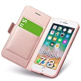 iphone8 ケース iphone7 ケース 手帳型 薄型 スマホカバー PUレザー 全面保護 耐衝撃 カード収……