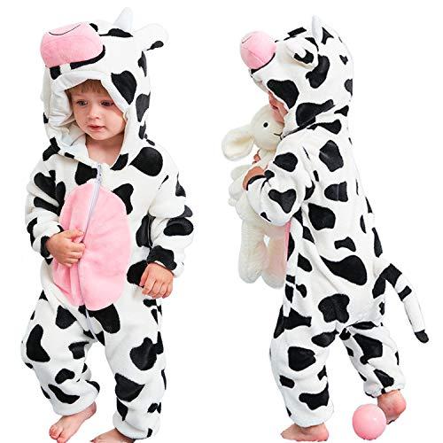 Halloween Baby Cow Costumes Toddler Onesie Pajamas Infants Cosplay Romper