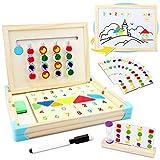 Jojoin Jouets en Bois Puzzle de Montessori, Jeux Educatif avec...
