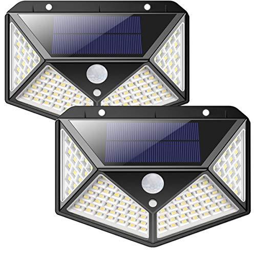Luce Solare LED Esterno,270Angolo Illuminazione-2200mAh100LED Lampada Solare con Sensore di...