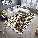 Carpet Man Cave Rugs Mat for Living Room Bedroom Whiskey Label Old Design (6'6'x10')