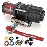 FIERYRED 12V 4500LBS Electric Synthetic Rope ATV Winch Kits for Towing ATV/UTV Off Road...