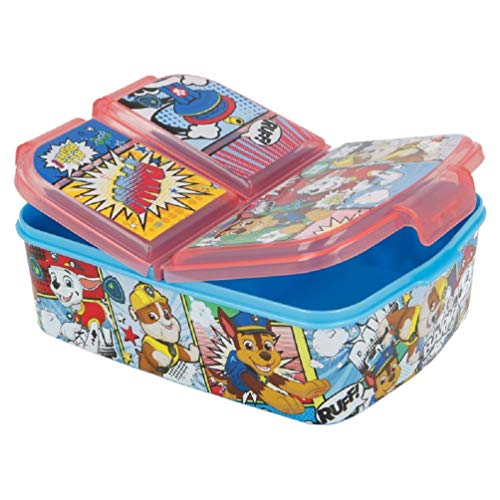 Paw-Patrol Kinder Premium Brotdose Lunchbox Frühstücks-Box Vesper-Dose mit 3 Fächern BPA-FREI