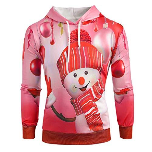 Vestito Natale Donna Sexy,Momoxi Felpa con Cappuccio da Donna Felpa con Cappuccio Grande Felpa con Stampa A Pupazzo di Neve di Natale,Donna Autunno Manica Lunga Cappotto Giacca Gli Sweatshirt Hoodies
