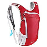 KUYOU Hydration Pack,Hydration Backpack with 2L Hydration Bladder Lightweight Insulation Water Pack for Running Hiking Riding Camping Cycling Climbing Fits Men & Women (Red)