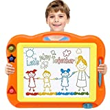 Magnetic Drawing Board, Large Magna Erasable Doodle for Toddlers A Colorful Etch Education Sketch Writing Board Toddler Toys for 3 4 5 6 7 Year Old Boy Girl