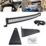 DaSen LED Light Bar Brackets Wiring Kit Full Size 50' 288W High Power Curved LED Light Bar...