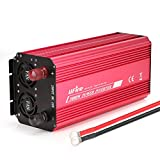 UFire 3000W Power Inverter, DC 12V to 110V AC Car Converter with Dual AC Outlets 2A USB Port Car Adapter -Red
