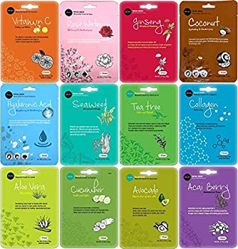 Premier Face Mask Quality Korean beauty products - Facial skin care sheet masks set can be your party favors for women. K-Beauty Sheet Mask in Bulk pack. Moisturizing Hydration - Infused with natural botanical ingredients Revitalizing Skin Therapy - ...