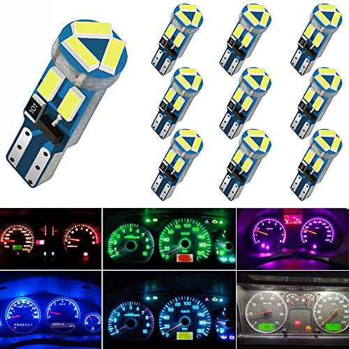Lampadine LED a cuneo T5, 10 pezzi, con attacco Twist Lock, 74, 70, 37, 17, 2721, PC74, PC37, lampadine LED per interni auto, indicatori, cruscotti, strumentazione, pannelli