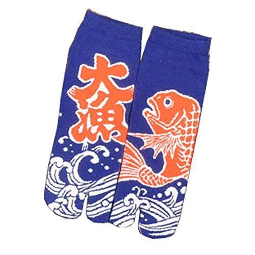 Kimono in stile giapponese Sandalo Split Toe Tabi Ninja Geta Calzini calzini Geisha per uomo, E-23