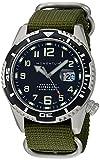 Momentum Men's Sports M50 Nylon Dive Watch Stainless Steel Japanese-Quartz Strap, Green, 22 (Model: 1M-DV52B7G)
