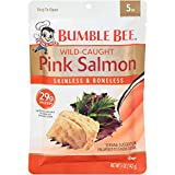 BUMBLE BEE Premium Skinless & Boneless Wild Pink Salmon, Ready to Eat Salmon, High Protein Food, 5 Ounce Pouch (Pack of 12)