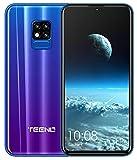 TEENO Telephone Portable Débloqué 4G 6.2' HD écran 3Go RAM 32Go ROM (Android - Double SIM - Une Caméra - Quad Core) (i11-bleu)