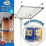 Bricolemar - Séchoir de plafond Cuncial Tezno-Techo avec manivelle pour...