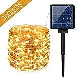 Guirlande Lumineuse Solaire Extérieure 30M 300 LEDs avec 8 Modes...