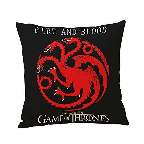 Globeagle Game of Thrones House Sigils Family Crest Pillow case (Targaryen)