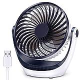 Aluan Desk Fan Small Table Fan with Strong Airflow Quiet Operation Portable Fan Speed Adjustable...