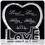 YWHL Valentines Gift Anniversary Sculpture - Crystal Couple Gift for Him Husband Boyfriend Her Wife Girlfriend Valentine's Day