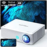 WISELAZER Native1080P ultra HD 7500L home movie Projector , Support 4K ,5G wireless outdoor...