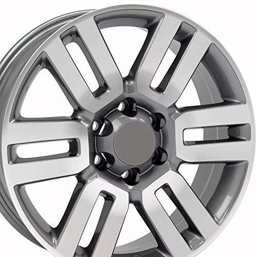 OE Wheels LLC 20 Inch Fits Toyota Tacoma Sequoia FJ Cruiser Tundra 4Runner Lexus GX HL450 4Runner Style TY10 Gunmetal Machined 20x7 Rim Hollander 69561
