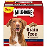 Milk-Bone Grain Free Dog Treats for Dogs, Small Biscuits, 9 Pounds