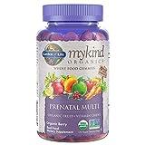 Garden of Life - mykind Organics Prenatal Gummy Vitamins - Berry - Organic, Non-GMO, Complete Vegan Multi - Methyl B12, D3 & Folate - Gluten Free - 120 Real Fruit Chew Gummies *Packaging May Vary*