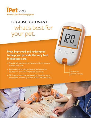 UltiCare VetRx iPet PRO Blood Glucose Monitoring System (Blood Glucose Meter Kit)