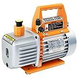 JIFETOR 3.5CFM Vacuum Pump Kit, 1/4HP 110V 60HZ 5Pa Single Stage Rotary Vane Vacuum Pump, Use for AC HVAC Automotive Air Conditioner Refrigerant Charge, Wine and Resin Degassing, 230ML Vacuum Pump Oil