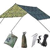 Doofang Camping Bâche Anti-Pluie Rain Tarp Toile de Tente Imperméable Abri de Randonnée Pliable...
