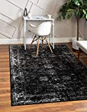 Unique Loom Sofia Collection Traditional Vintage Area Rug, 5' x 8', Black/Ivory