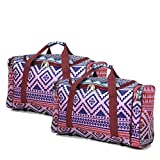 Set of 2 Overnight Duffle Bags for Women - Airline Approved Small Carry On Bag Lightweight Hand Luggage Cabin on Flight & Holdalls