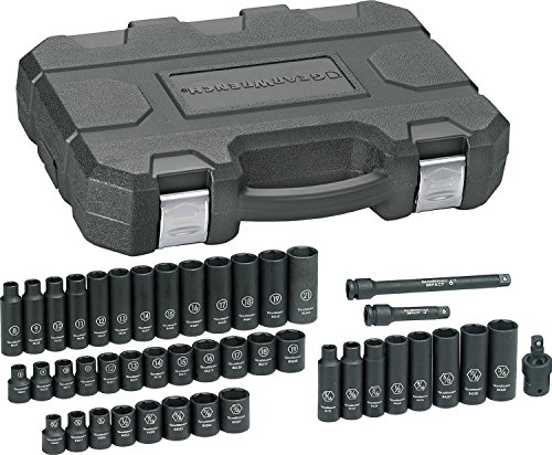 GEARWRENCH 44 Pc. 3/8' Drive 6 Point Standard & Deep Impact SAE/Metric...