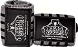 Bear Grips Extra Strength Wrist Wraps. Superior Support Straps for Weight Lifting, Gym & Fitness Workout, Crossfit Wods. for Men & Women, Gray & Black, Size: 18' Length