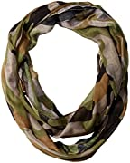 Generous size of 70-inches; folded to 35-inches x 25-inches Made with a soft, lightweight weave; 100% polyester Size allows Scarf to be looped fashionably twice around your neck Camouflage colors Made in China
