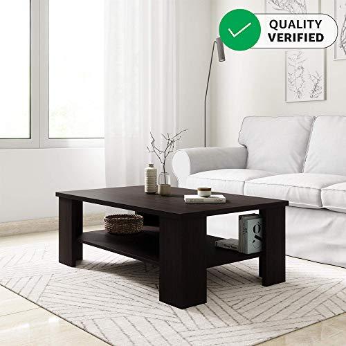 Amazon Brand - Solimo Kaya Engineered Wood Coffee Table (Espresso Finish)