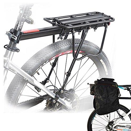 Malayas - Portapacchi per bicicletta in lega, con catarifrangente, capacit di carico 50 kg