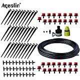 TINI 25m Automatic Micro Drip Irrigation System Garden Irrigation Spray Self Watering Kits with Adjustable Dripper #26301-1 White
