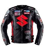 Suzuki Black Motorcycle Racing Leather Jacket (XL(EU56))