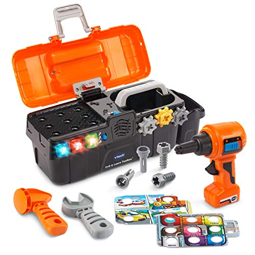 VTech Drill and Learn Toolbox Amazon Exclusive , Orange