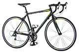 Schwinn Phocus 1600 Drop Bar Road Bicycle for Men, Featuring 56cm/Large Aluminum Step-Over Frame and Carbon Fiber Fork with Shimano 16-Speed Drivetrain and 700c Wheels, Silver