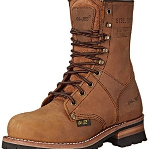 Adtec Women's Work Boots 9″ Steel Toe Logger (Brown, Numeric_9)