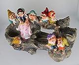 Design Schneewittchen mit 7 Zwerge 13020 Zwerg 32 cm Hoch Deko Garten Gartenzwerg Figuren Dekoration verschiedene Design - 6