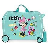 Disney Minnie Happy Helpers Maleta Infantil Azul 50x38x20 cms Rígida ABS Cierre combinación 34L 2,3Kgs 4 Ruedas Equipaje de Mano