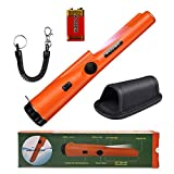 Pinpoint Metal Detector Pinpointer - 360°Search Treasure Pinpointing Finder Probe Orange with Belt Holster for Adults and Kids