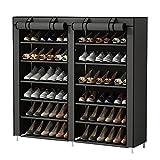 UDEAR Meubles à Chaussures avec Housse en Toile 7 Couches étagère Chaussures...